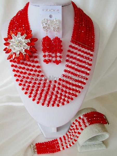 Glamorous Crystal Beads Nigerian Wedding Beads , African Beads Jewelry Set C1578<br><br>Aliexpress