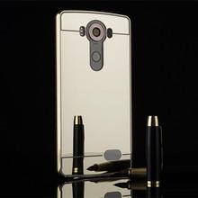 Luxury Plating Aluminum Frame+Acrylic Mirror Phone Case LG V10 V20 G4 G5 K8 K10 Q7 Back Cover - Professional, TPU case store