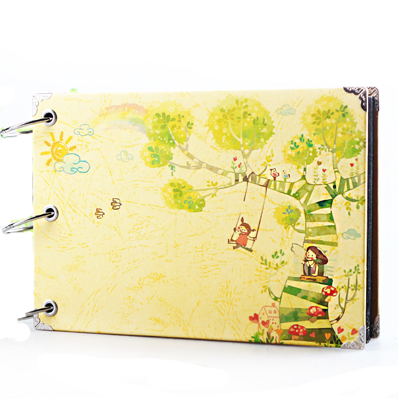 Free Shipping DIY Korea Style 6-inch Photo Album Handmade Sticky-type Materials Creative Baby Photo Albums Child Scrapbook(China (Mainland))