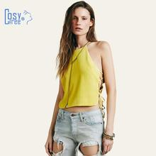 Summer Style Tops for Women Clothing 2015 New Fashion Tied Sexy Crop Top Solid Backless Women Tops Tank Top Plus Size XS-XXL(China (Mainland))