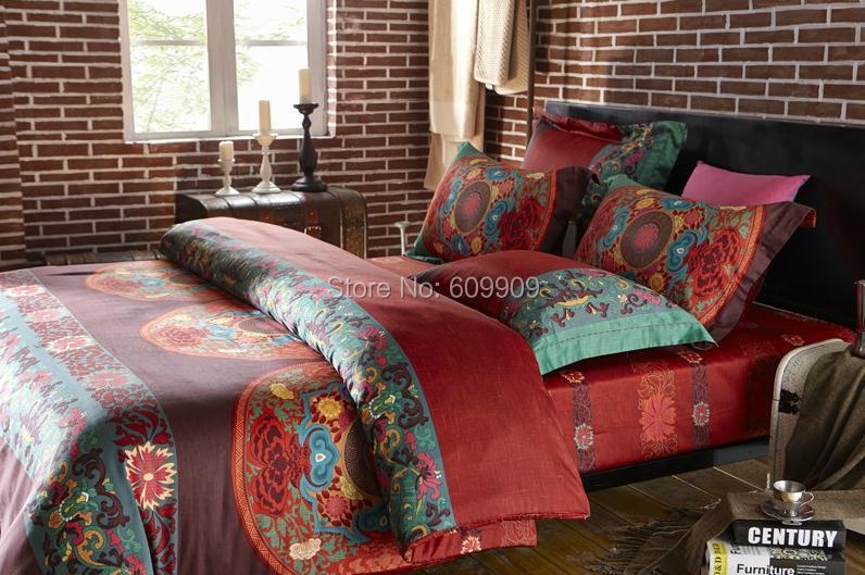 Egyptian Cotton Boho Style Bedding Queen Bohemian Bedding