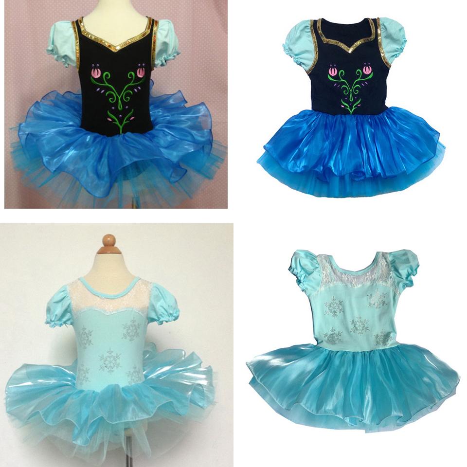 Hot selling Girls cosplay Princess Ballet Dress Leotard Short Sleeve Dancewear SZ2-8Y Tutu Skate Party Skirt Dance - JUDY Fairy Store store