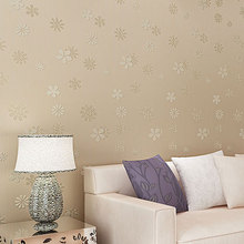 Korean Style Romantic Floral Non-woven Wallpaper Rolls Bedroom Children's room Wall Paper TV Background Wall Paper #100930(China (Mainland))