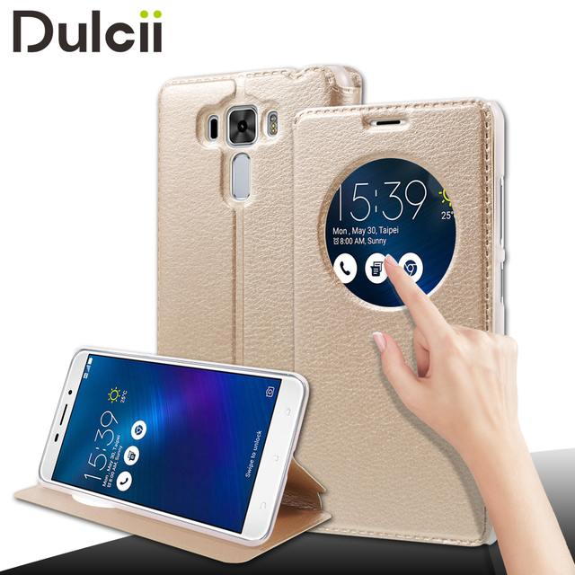 for Asus Zenfone 3 Laser ZC551KL Phone Cases Hollow View Window Smart Leather Stand Cover for Asus Zenfone 3 Laser ZC551KL case