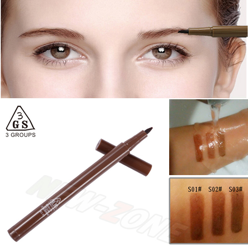 Super Waterproof All Day long wearing smudge-proof Eyebrow Pencil Smoonth Liquid eye brow makeup pen 1PCS Free Shipping<br><br>Aliexpress