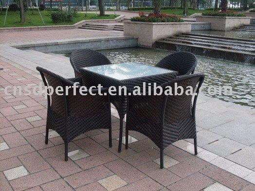 outdoor furniture/rattan furniture/rattan table/glass top