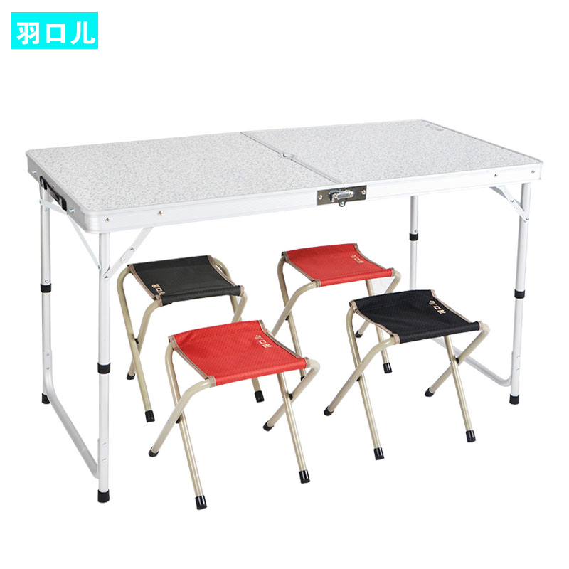 Aluminum portable outdoor folding tables and chairs - Camping picnic table and chairs ...