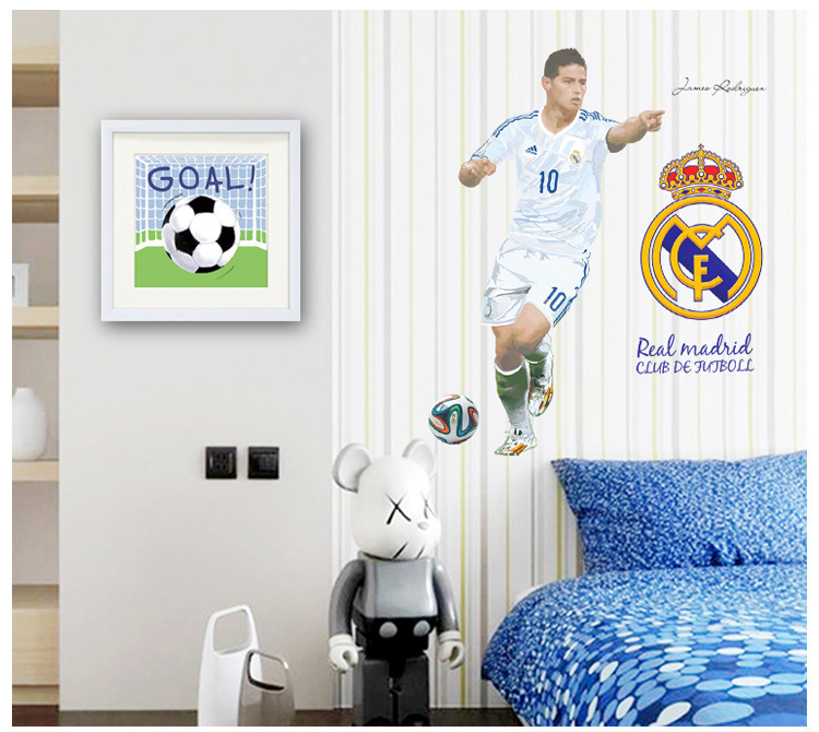 Real madrid bedroom wallpaper for Decoration chambre real madrid