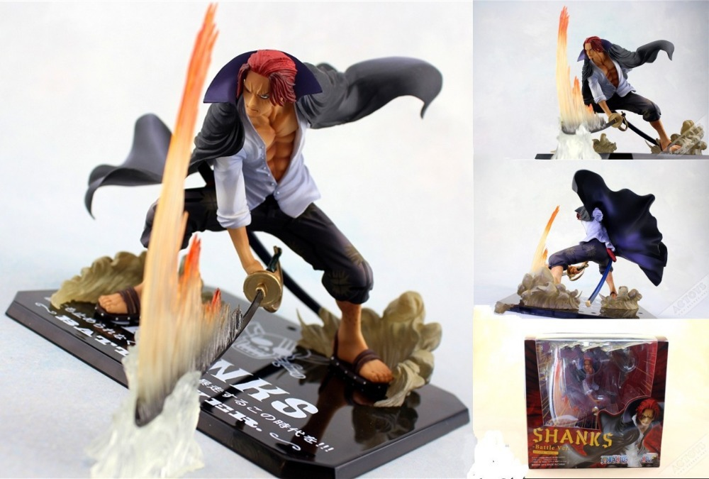 anime figures ZERO One Piece Shanks Action Figure Anime Cartoon Collectible Model Toy 19CM Free Shipping(China (Mainland))