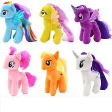 18cm cute Cartoon Kids TV Rainbow Animal Little Horse Burberry Stuffed Doll Plush Toys Kids Birthday Gifts
