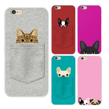 2016 Sale New Arrival Pocket For Cat And Dogs Lovely Pattern Soft Tpu Back Cover Case Phone For For Iphone 5 5s 6 6s 6plus Plus