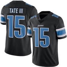 Men's #15 Golden Tate III Elite Black Rush jersey 100% stitched(China (Mainland))