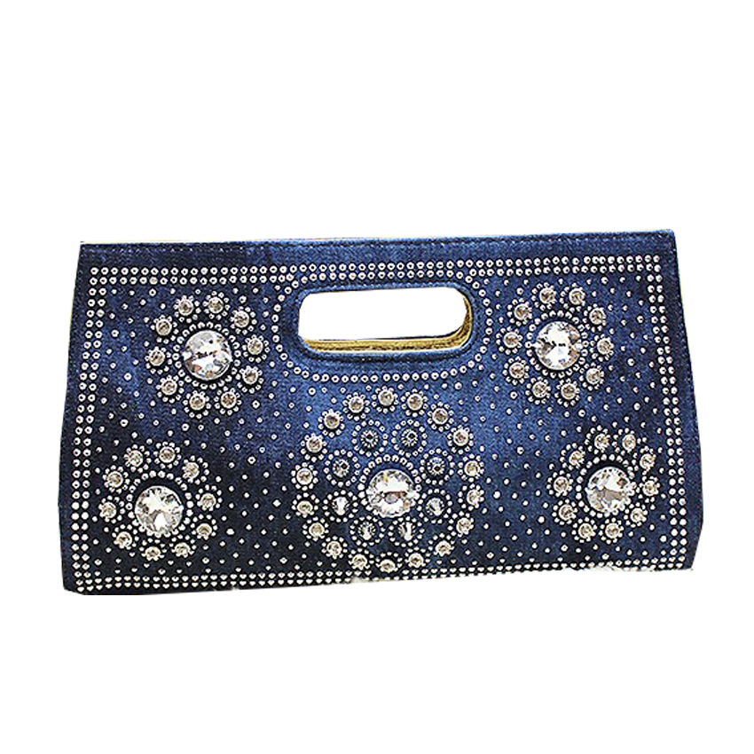 2016 Brand New Women's Synthetic Leatherr High-end denim or PU leather Envelope Bag Day Clutches Purse Evening Bag(China (Mainland))