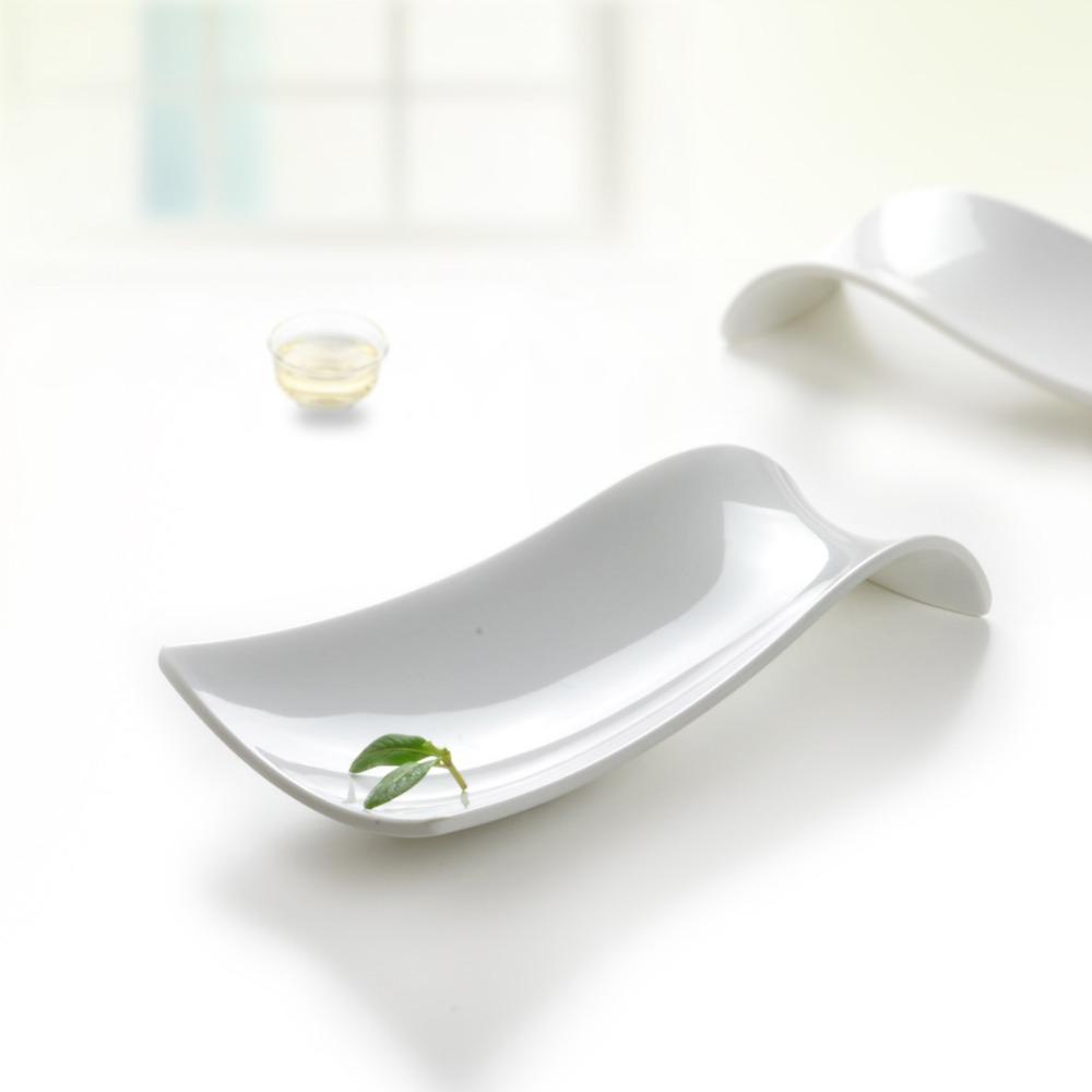 Western Meal Fast Food White Plastic Melamine Dessert Fruit Salad Dinnerware