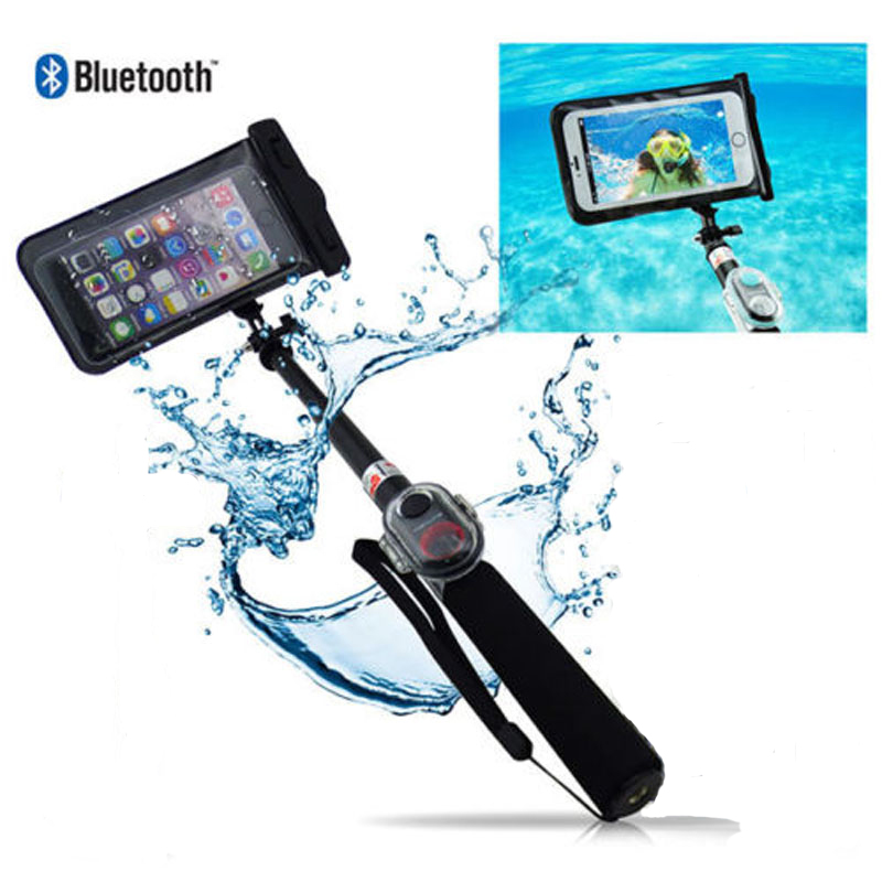 aluminum bluetooth waterproof selfie stick for iphone android in selfie stick. Black Bedroom Furniture Sets. Home Design Ideas