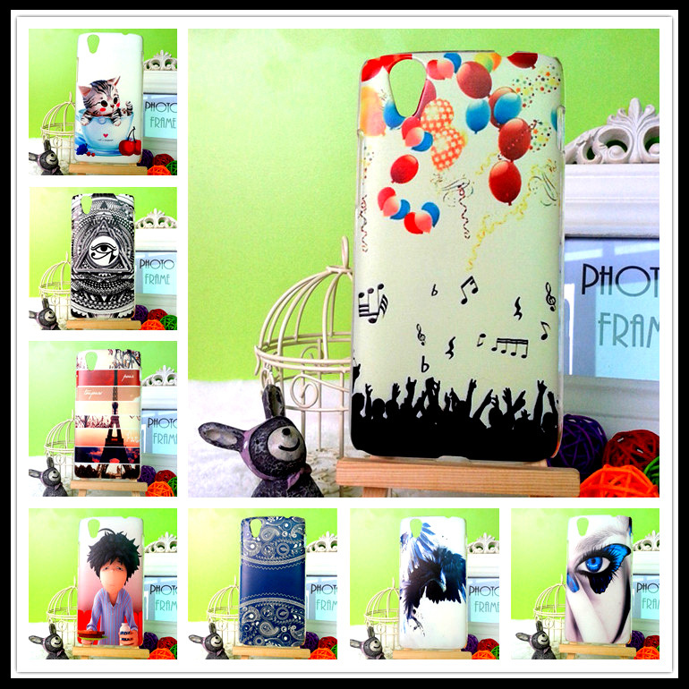 Lenovo VIBE X S960 phone case luxury 10 styles cartoon colored painting hard back cover girl cat tower Support DIY - BOSO Technology Co., Ltd (ShenZhen store)