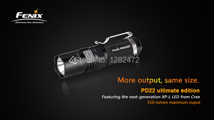 2014 New Fenix PD22 Ultimate Edition Cree XP-L V5 LED Flashlight 540 lumens130 Distance Waterproof Camping Torch - Roy's Digital Store store
