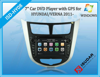 Two Din 7 Inch Car DVD Player For HYUNDAI/Verna/I25/Solaris 2011- With 3G Host Radio GPS RDS BT TV 1080P Ipod Free Map
