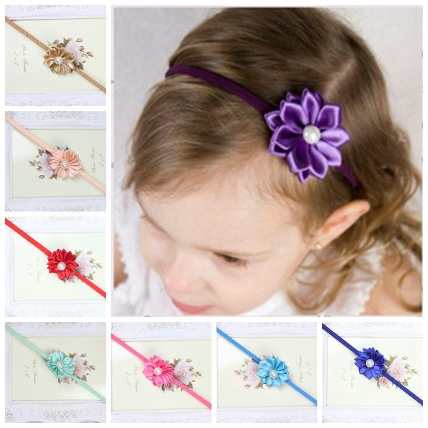 2015 Newborn Infants headbands pearl Headband baby headband hairband Children Hair Accessories Girls Headwear(China (Mainland))