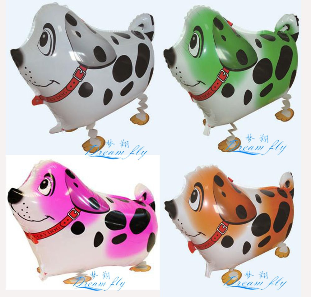 Free shipping hot sell spotty dog pet waling balloon animals pet balloon(China (Mainland))