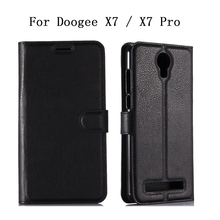 Buy Fundas Coque Doogee X7 Pro Case Flip Leather Stand Wallet Cover Doogee X7 / X7 Pro Phone Protective Bags Card Slots Capa for $3.35 in AliExpress store