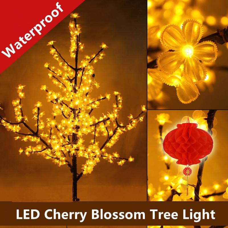 1.5M LED crystal cherry blossom tree light Christmas new year wedding Luminaria decorative tree branches lamps indoor lighting(China (Mainland))