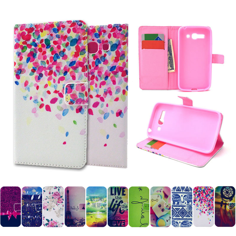 Carton pattern Flip PU Leather Case for Alcatel One Touch POP C9 Dual 7047 7047D With Card Slot & Stand Back Phone Case Cover(Hong Kong)