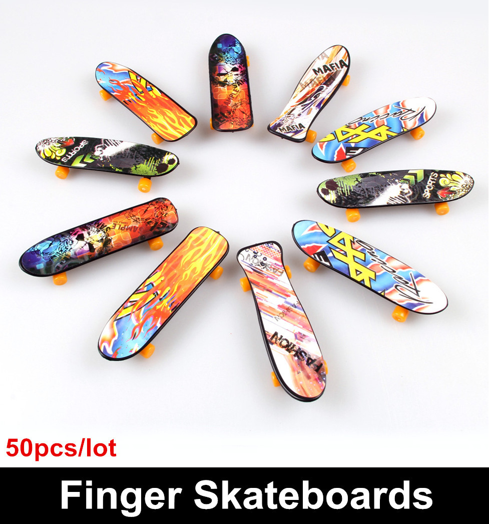50 pieces/lot Toys for kids Novelty Hip-Hop style Finger Skateboard Classic toys for children Finger scooter Free shipping(China (Mainland))