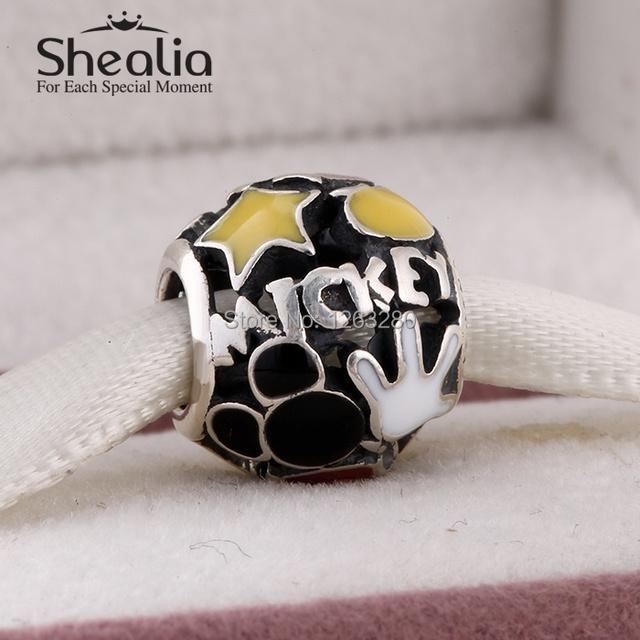 Весна комикс мышь мания подвески-талисманы с эмаль 925 чистое серебро ювелирные изделия подходит своими руками подвески браслет SH0658
