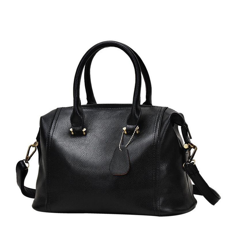 2016 Genuine Leather High Quality Women Handbag Design Luxury Boston Tote Bag Cowhide Messenger Bag for Ladies bolsa feminina(China (Mainland))