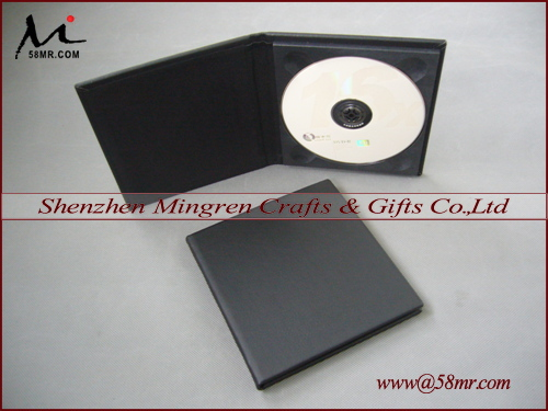 Elegant Black CD DVD Case Storage Folio Holder Album Box,Plain Cover,1Disc(China (Mainland))