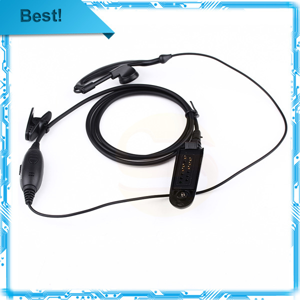 New PTT VOX MIC Earpiece for Motorola Radio GP328 GP329 GP340 GP380 MTX850 PRO5150 earpiece Black(China (Mainland))