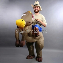 Inflatable horse costume Halloween party fancy costume animal costume for adults()