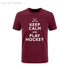 Buy 2017 Summer Keep Calms and Play Hockeys Novelty Printed Mens Men T Shirt Tshirt Short Sleeve Cotton T-shirt Tee Camisetas Hombre for $9.61 in AliExpress store