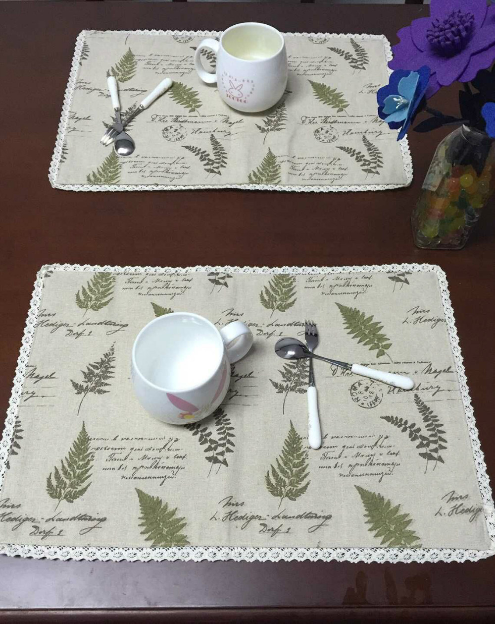 free shipping European cotton linen placemat insulation mat table mat bowls mat disc pad tablecloths custom made to order(China (Mainland))