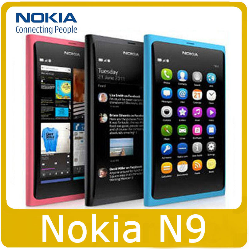 N9 Original Nokia N9 Nokia N9-00 Lankku,A-GPS, WIFI,3G, GSM,8 MP Camera, 16GB Internal Unlocked Mobile Phone Refurbished(China (Mainland))