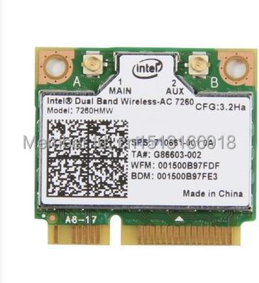 Intel Dual Band Wireless-AC 7260 7260HMW 7260AC Wireless wifi half Mini PCI-e bluetooth card for hp laptop(China (Mainland))