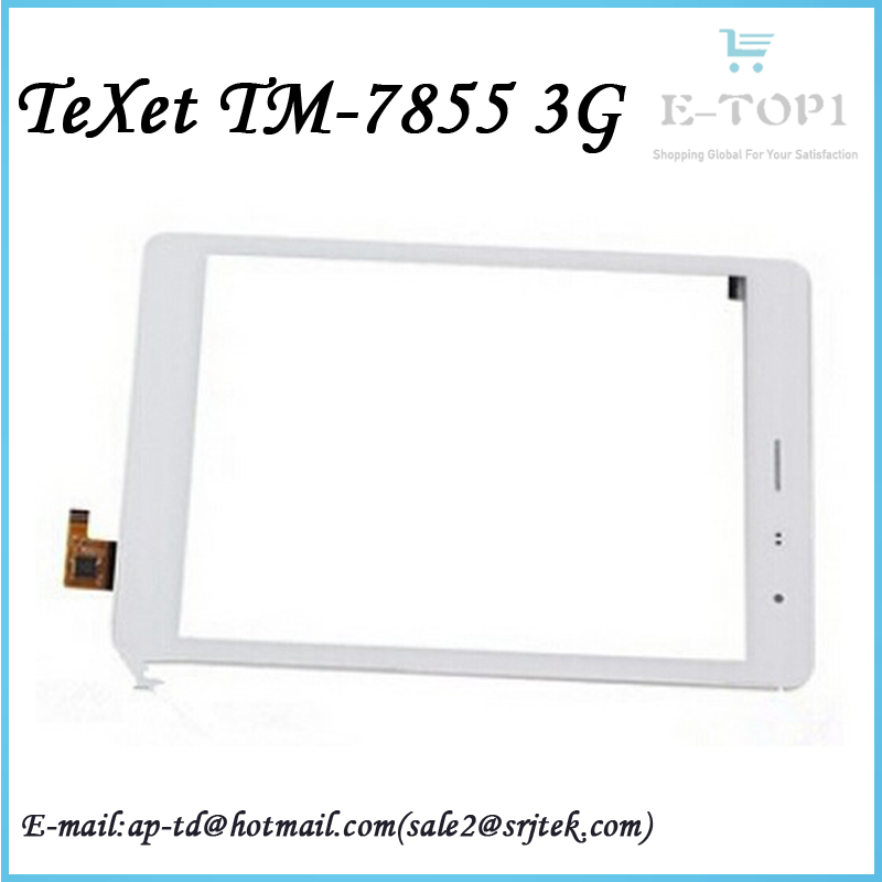 White Color 7.85 inch TeXet NaviPad TM-7855 3G Touch screen panel Digitizer Glass Sensor TM 7855 3G Replacement Free Shipping<br><br>Aliexpress