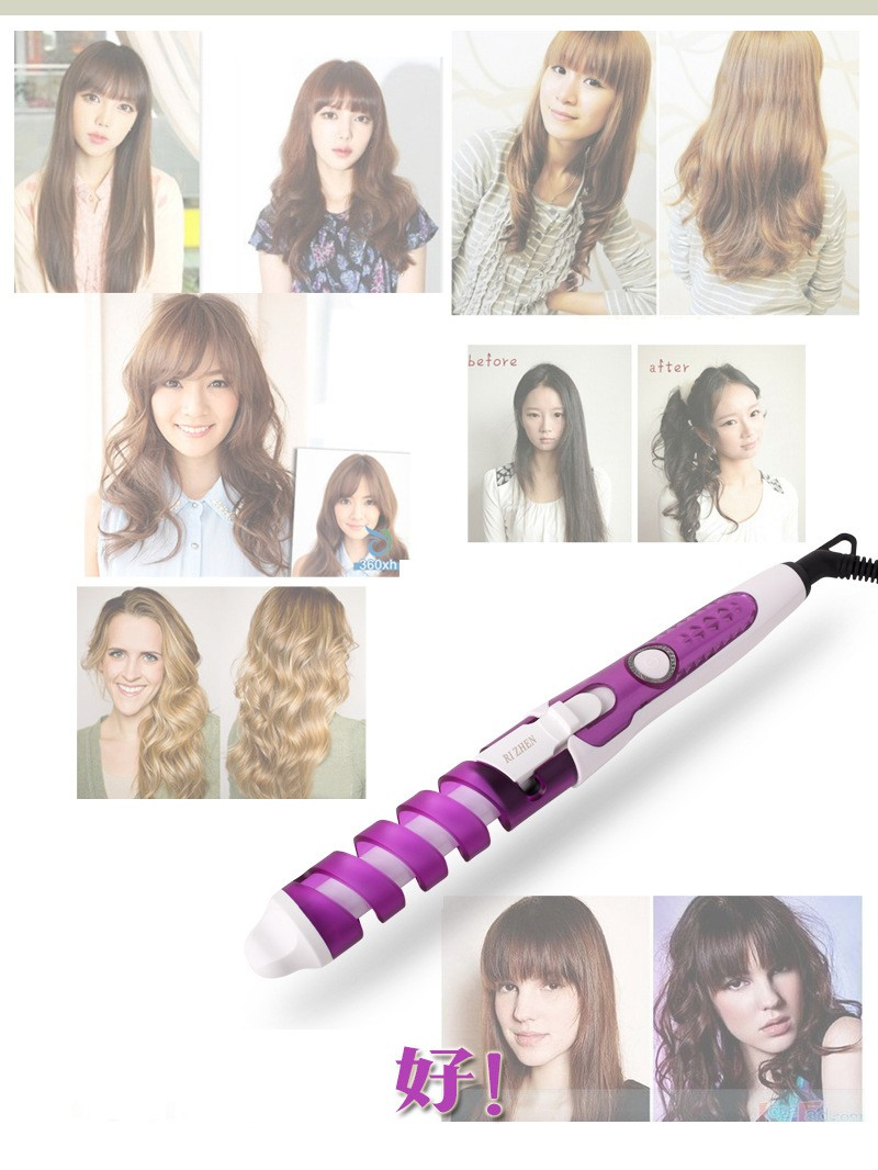 magic plastic hair curler rollers styling Tools curly hair styling curly hair machine Electric Ceramic spiral hair curler