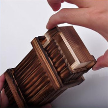 New Magic Wooden Gags & Practical Jokes Wooden Secret Trick Novelty & Gag Toys Gift 872407(China (Mainland))