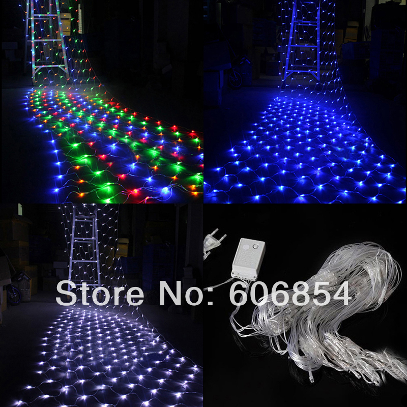 String Lights Backyard Led : Colorful 200 LED Indoor/Outdoor Net String Light Lamp For Christmas Wedding Party Decoration-in ...
