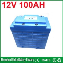 Electric Bicycle Battery UPS backup lifepo4 Type and 12V Voltage 12v 100ah lifepo4 battery pack from top battery manufacturers