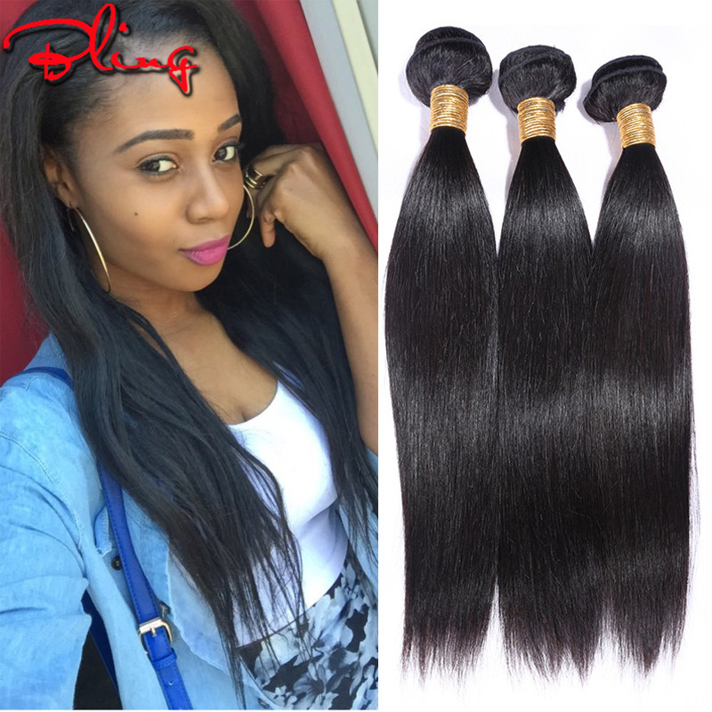 Unprocessed virgin Brazilian Hair Straight Cheap Brazilian 3 Bundles Hair Extensions Human hair Weave Bundles Rosa Hair Products