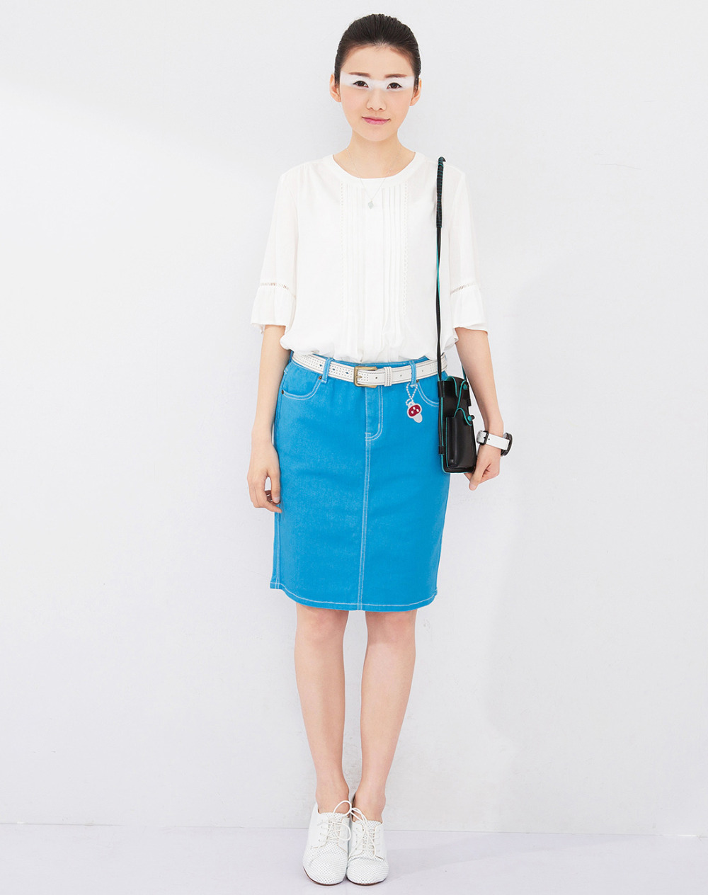 toyouth new s summer skirt solid color