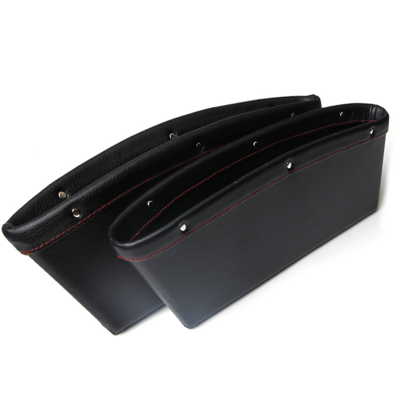 2 pcs/lot Genuine Leather Storage Bag For Seat Leon FR Supercopa Car Seat Pocket Space Saver Tidying Car Sorting Box Elegant<br><br>Aliexpress