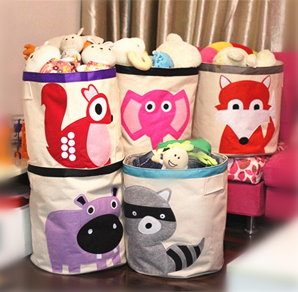 grande capacit toile cartoon enfants jouets sac de rangement enfants bacs de stockage. Black Bedroom Furniture Sets. Home Design Ideas