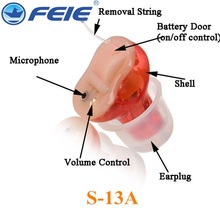 USB Programmable Hearing Aid Digital Hearing Aids S-13A RIGHT EAR Drop Shipping(China (Mainland))