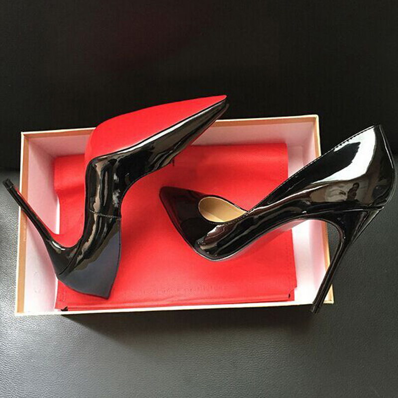 2016 hot sale Women pumps Red Bottom Shoes High Heels Shoes Luxury Designer good quality Leather Wedding Shoes sapatos femininos(China (Mainland))