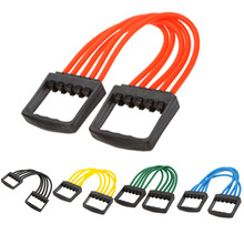 2015 new Indoor sports Supply Portable Chest Expander Puller Exercise Fitness Cable Latex Resistance Bands pull tool elasticity