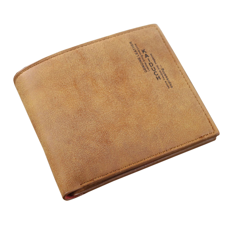 Mens Dull Polish Leather Wallet Vintage Style High Quality Purses Cheap Purses For Resale Money Bag Male Clutch Free Shipping(China (Mainland))